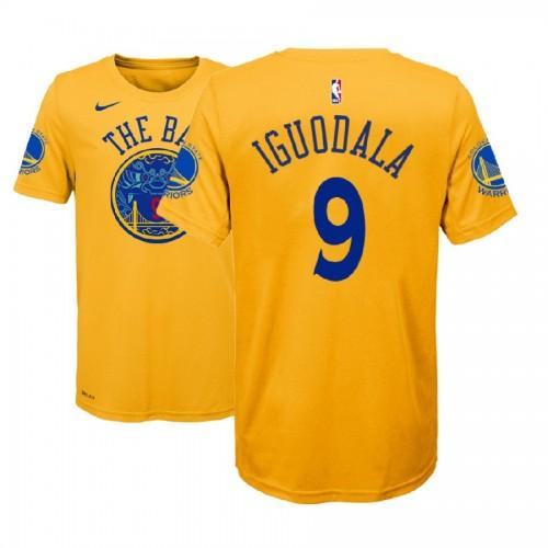 Youth Golden State Warriors #9 Andre Iguodala Gold City T-Shirt