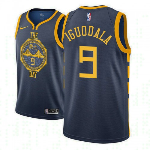 Youth Andre Iguodala Golden State Warriors City Edition Navy Jersey