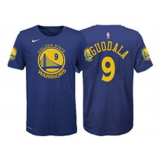 Youth Andre Iguodala Golden State Warriors #9 Icon Blue T-Shirt