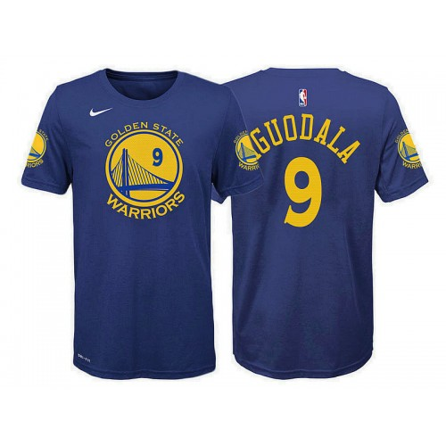 Youth Andre Iguodala Golden State Warriors #9 Icon Blue T-Shirt