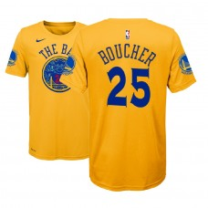 Youth Golden State Warriors #25 Chris Boucher Gold City T-Shirt