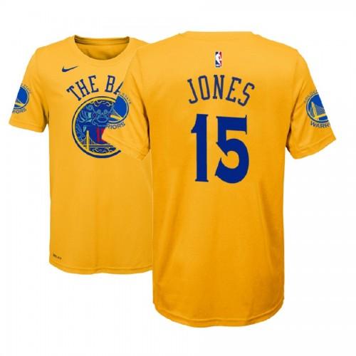 Youth Golden State Warriors #15 Damian Jones City T-Shirt