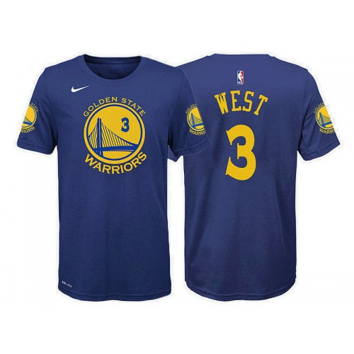 Youth Golden State Warriors #3 David West Icon T-Shirt