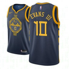 Youth Golden State Warriors #10 Jacob Evans III Navy City Jersey
