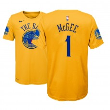 Youth Golden State Warriors #1 JaVale McGee Gold City T-Shirt