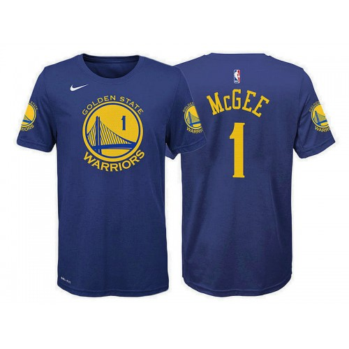 Youth Golden State Warriors #1 JaVale McGee Blue Icon T-Shirt