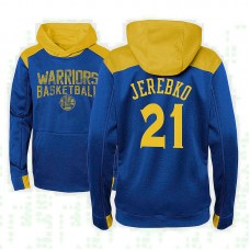 Youth Golden State Warriors #21 Jonas Jerebko Royal Outerstuff Off The Court Hoodie