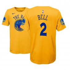 Youth Golden State Warriors #2 Jordan Bell Gold City T-Shirt