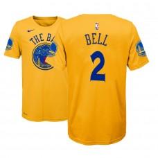 Youth Golden State Warriors #2 Jordan Bell Gold City T-Shirt