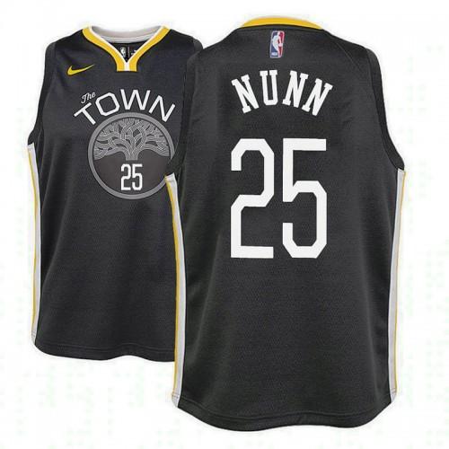 Youth Golden State Warriors #25 Kendrick Nunn Black Statement Jersey