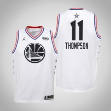 Youth Golden State Warriors #11 Klay Thompson White 2019 All-Star Jersey