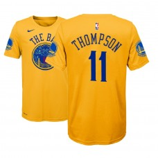 Youth Golden State Warriors #11 Klay Thompson Gold City T-Shirt