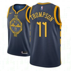 Youth Golden State Warriors #11 Klay Thompson Navy City Jersey
