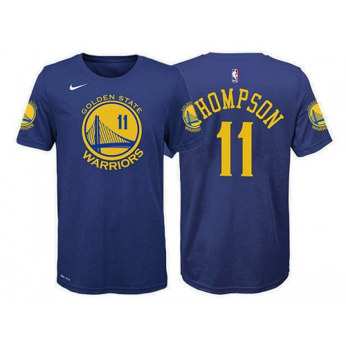 Youth Golden State Warriors #11 Klay Thompson Blue Icon T-Shirt