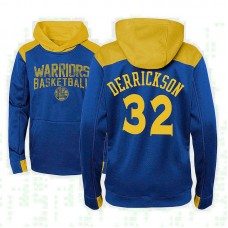 Youth Golden State Warriors #32 Marcus Derrickson Royal Outerstuff Off The Court Hoodie