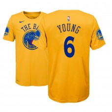 Youth Nick Young Golden State Warriors #6 City Edition Gold T-Shirt