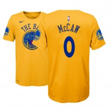 Youth Patrick McCaw Golden State Warriors #0 City Edition Gold T-Shirt