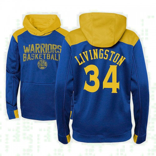Youth Shaun Livingston Golden State Warriors #34 Royal Off The Court Hoodie