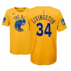 Youth Golden State Warriors #34 Shaun Livingston Gold City T-Shirt