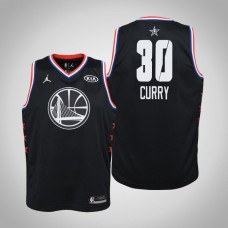 Youth Golden State Warriors #30 Stephen Curry Black 2019 All-Star Jersey
