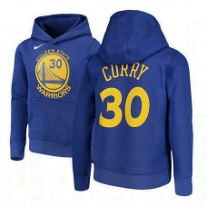 Youth Golden State Warriors #30 Stephen Curry Royal Name & Number Hoodie