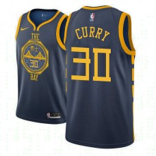 Youth Golden State Warriors #30 Stephen Curry Navy City Jersey