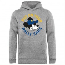 Youth Golden State Warriors Disney Rally Ears Pullover Hoodie - Ash