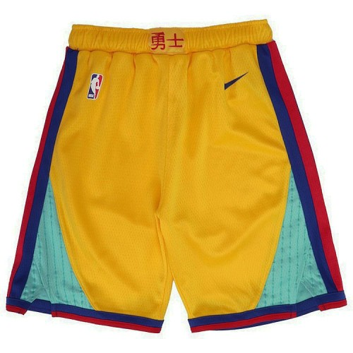 Youth Golden State Warriors Gold City Edition Swingman Basketball Shorts