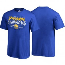 Youth Golden State Warriors Royal 2017 Pacific Division Champions T-Shirt