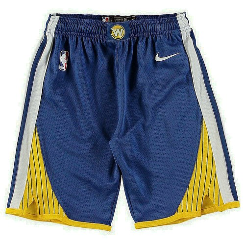 Youth Golden State Warriors Royal Gold Icon Edition Swingman Basketball Shorts