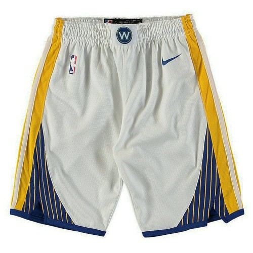 Youth Golden State Warriors White Association Edition Swingman Basketball Shorts