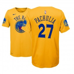 Youth Zaza Pachulia Golden State Warriors #27 City Edition Gold T-Shirt