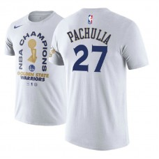 Golden State Warriors #27 Zaza Pachulia 2018 Champions T-Shirt