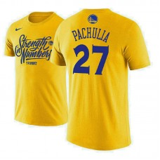 Golden State Warriors #27 Zaza Pachulia Name & Number T-Shirt