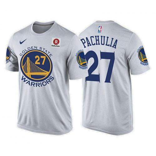 Zaza Pachulia Golden State Warriors #27 Association White T-Shirt