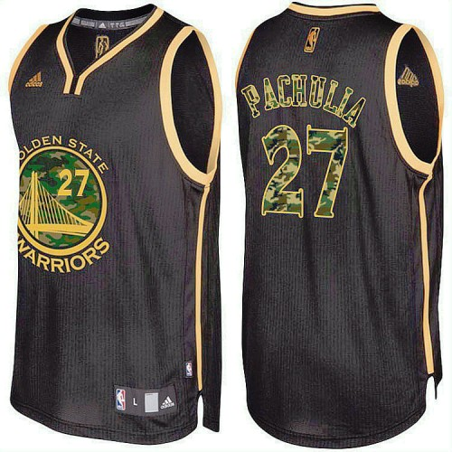 Golden State Warriors #27 Zaza Pachulia Camo Military Camo Fashion Jersey