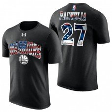 Golden State Warriors #27 Zaza Pachulia Black Independence Day T-Shirt