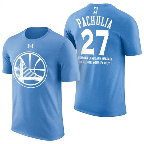 Golden State Warriors #27 Zaza Pachulia Blue Father's Day T-Shirt
