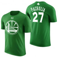 Golden State Warriors #27 Zaza Pachulia Green St. Patrick's Day T-Shirt