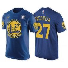 Golden State Warriors #27 Zaza Pachulia Royal Icon T-Shirt